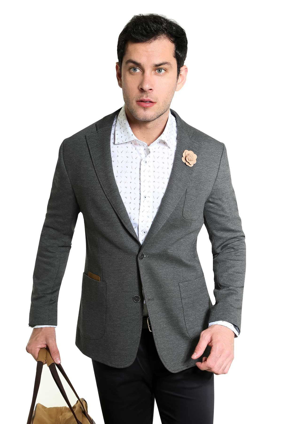 SACO SLIM FIT GRIS