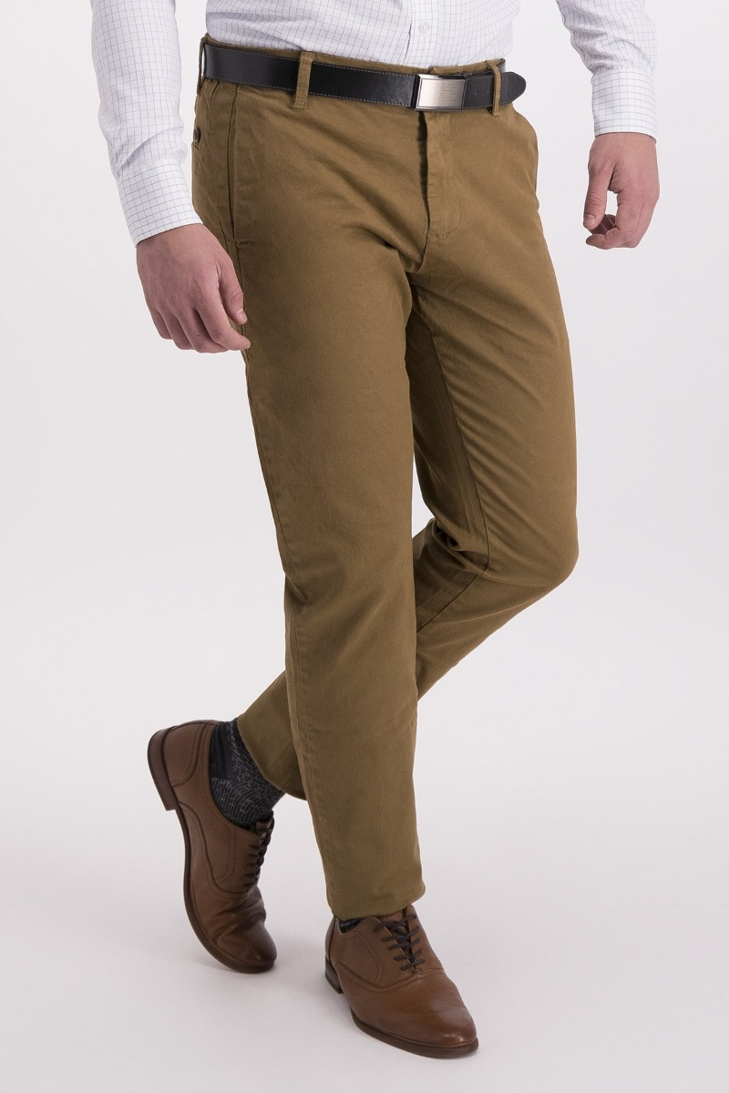 PANTALÓN CASUAL CAFÉ - SLIM FIT