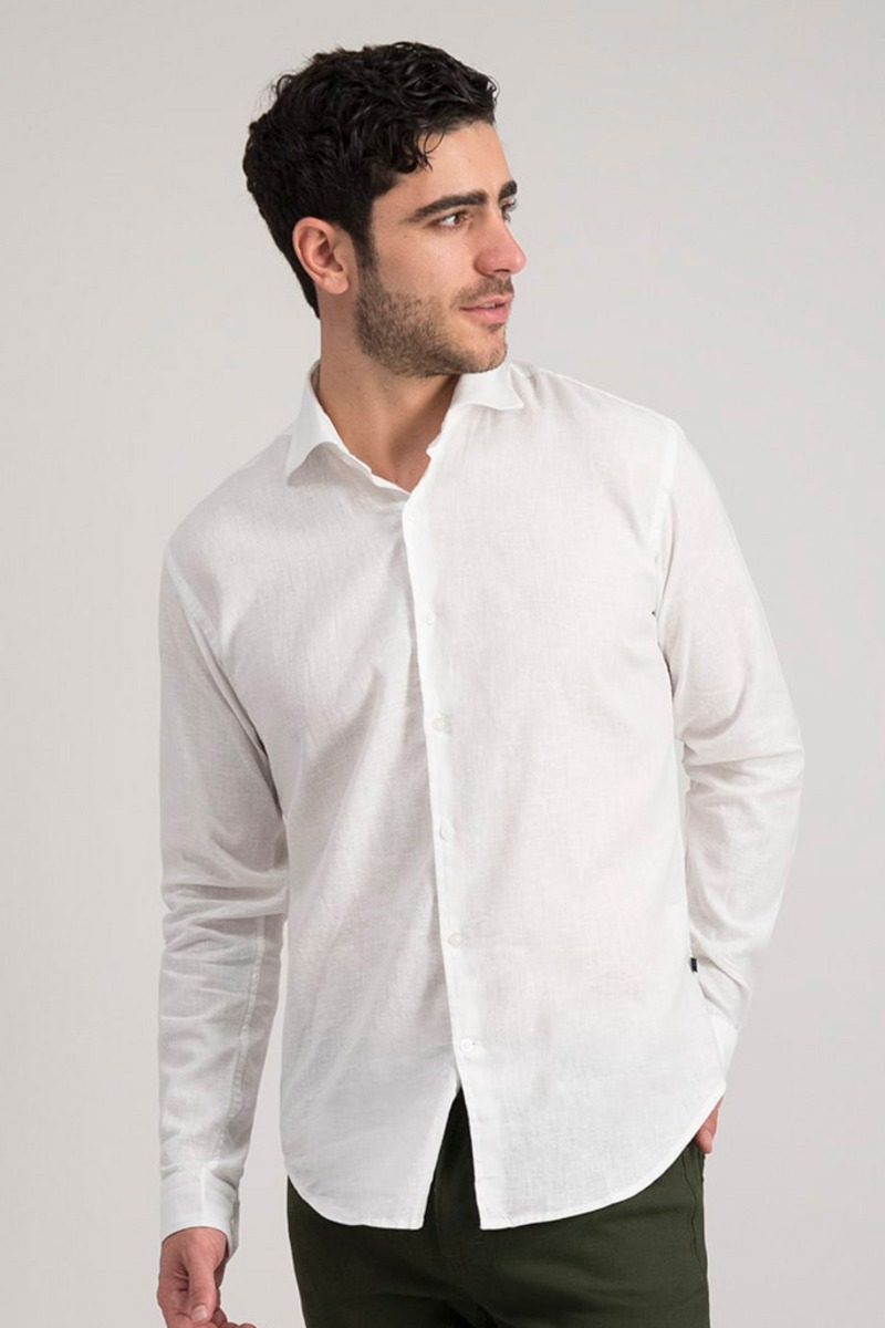 CAMISA CASUAL DE LINO SLIM FIT