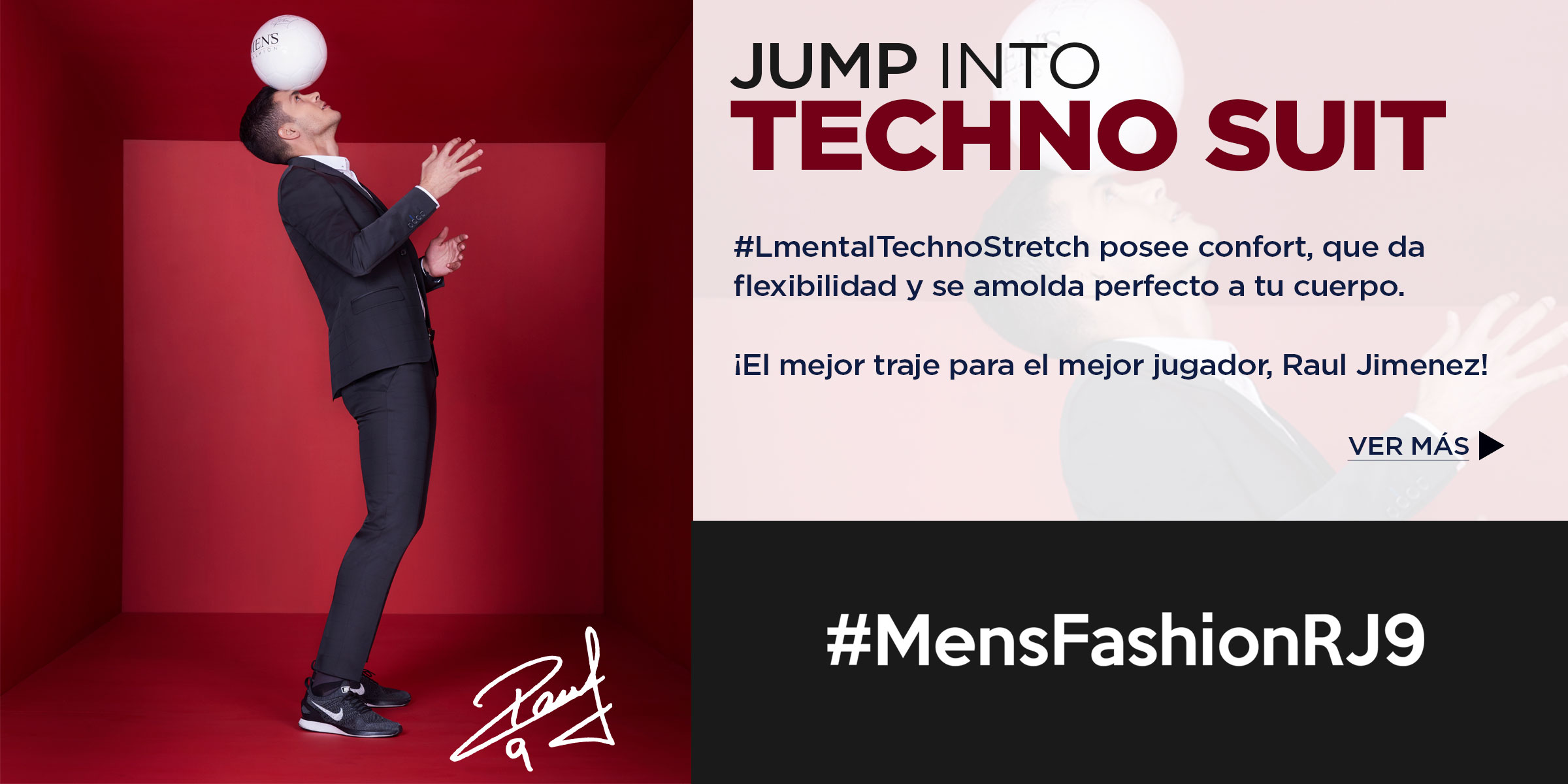 TECHNO SUIT MENSFASHION RAUL JIMENEZ