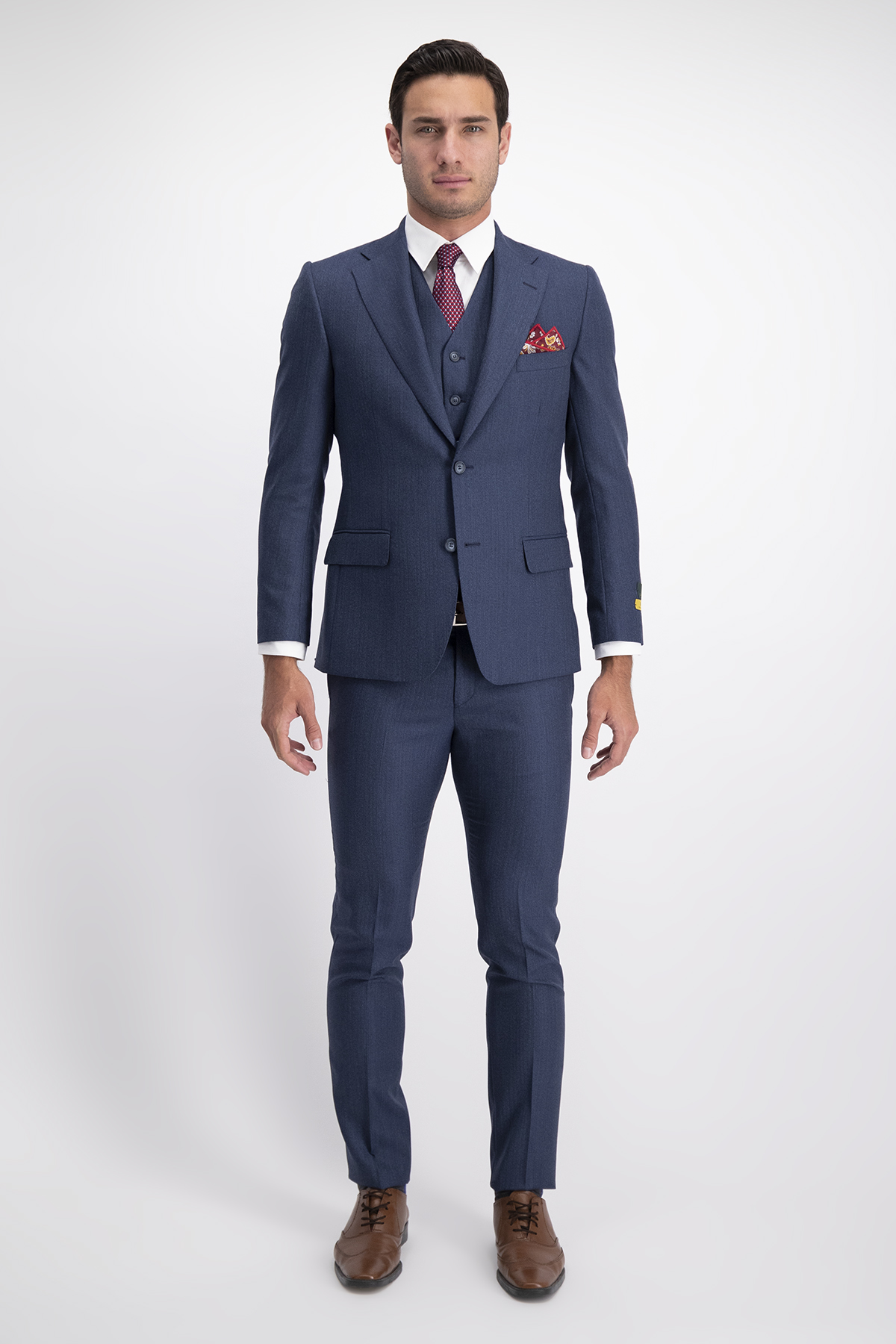 London blue suit